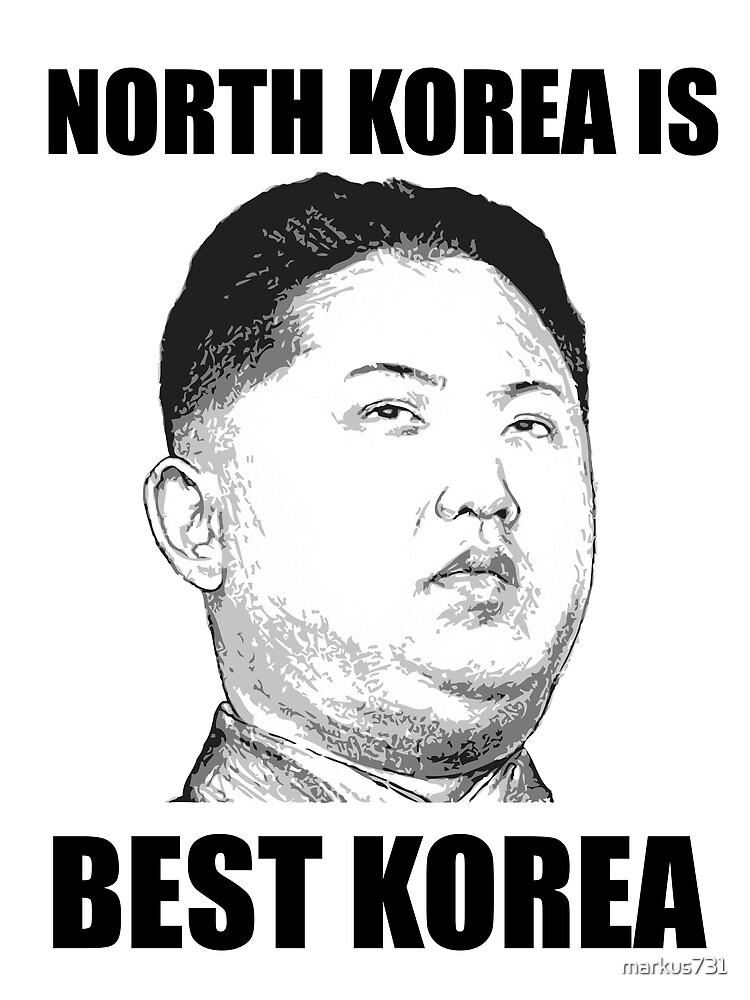 North Korea Is Best Korea By Markus731 Redbubble