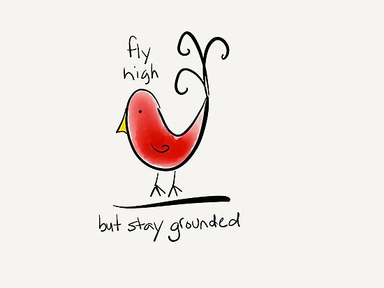 Fly High But Stay Grounded by Pamela Shaw