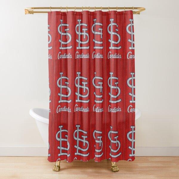 cardinals baseball shower curtains redbubble