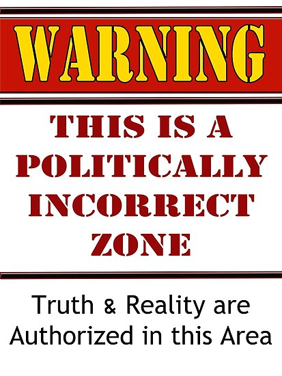 """""""Warning: Politically Incorrect Zone"""" Posters by Buckwhite ..."""
