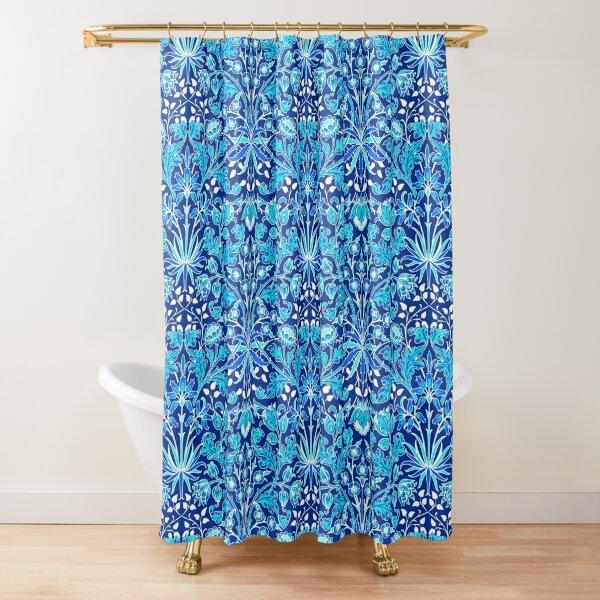 william morris hyacinth cerulean blue shower curtain by marymarice redbubble