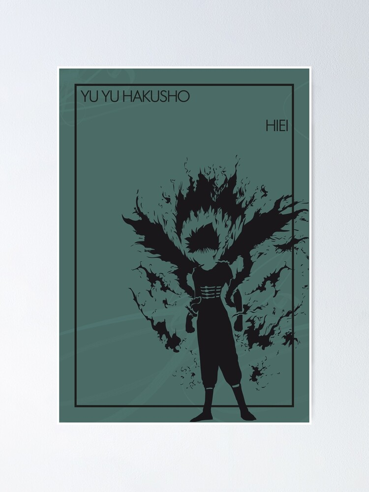 hiei poster by the minimalist redbubble