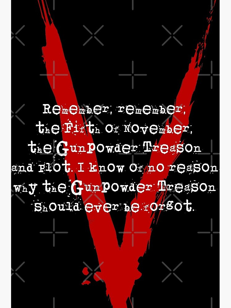 Remember Remember The 5th Of November Art Board Print By Drnic0 Redbubble