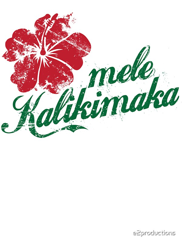 Mele Kalikimaka Stickers By E2productions Redbubble