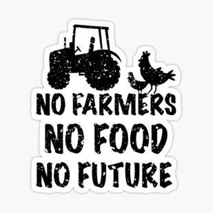 "No Farmers no Future No Food"" Sticker by AdelDa19 | Redbubble"