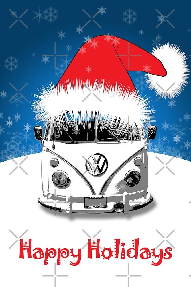 VW Camper Happy Holidays By Splashgti Redbubble
