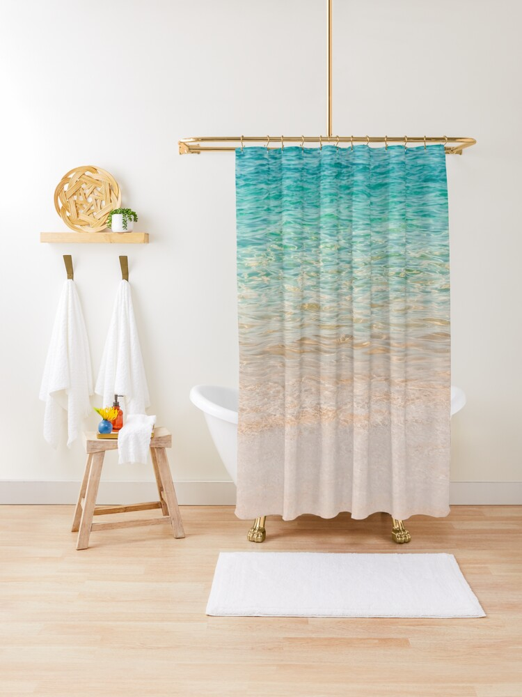 crystal clear water shower curtain by elenaestelles redbubble