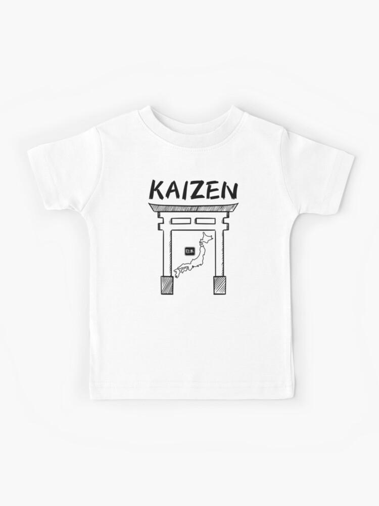 kaizen 改善 kids t shirt by riveofficial redbubble