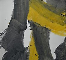 Yellow And Black Abstract 2 Available on Red Bubble
