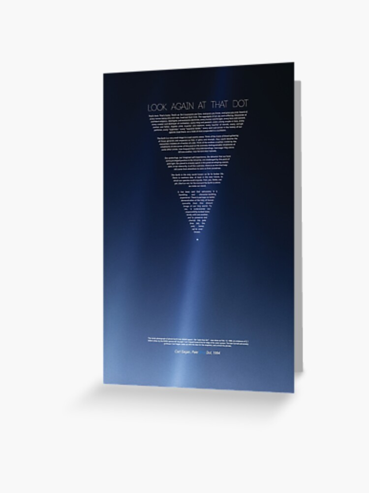 carl sagan pale blue dot revisited 2020 posters prints greeting card by artcolourized redbubble