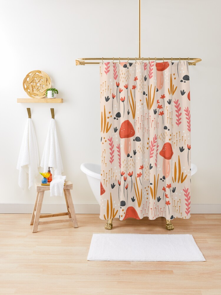 magical fairy garden shower curtain by wispyfox redbubble