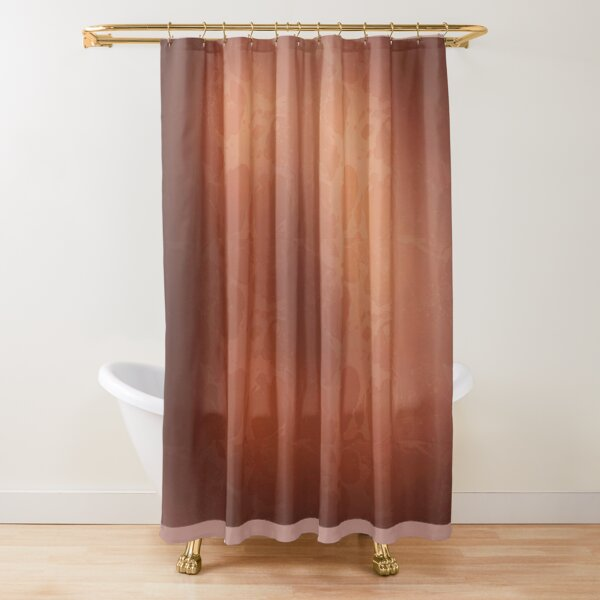 reddish brown shower curtains redbubble