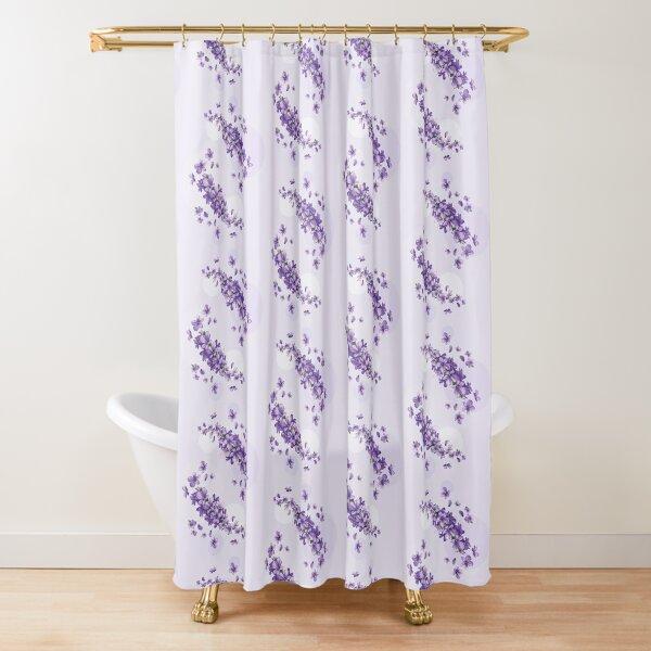lilac shower curtain by jamieyuchuan redbubble