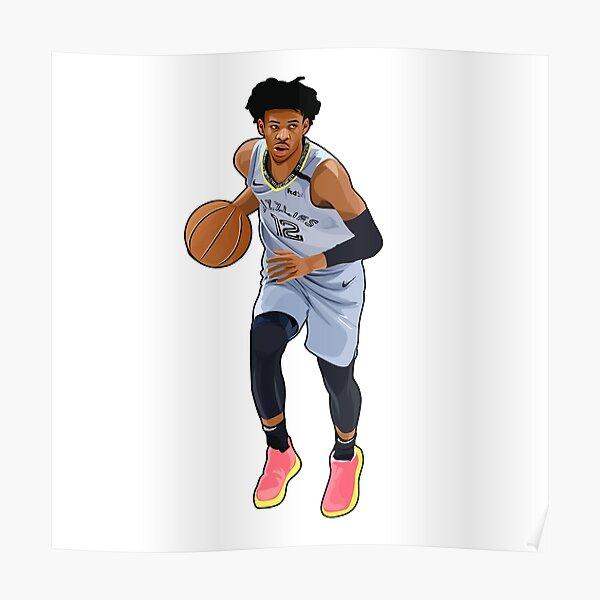 ja morant basketball posters redbubble