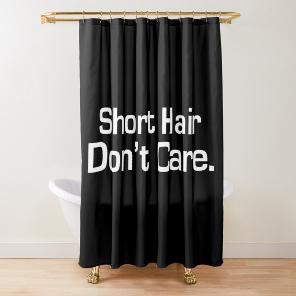 short hair shower curtains redbubble