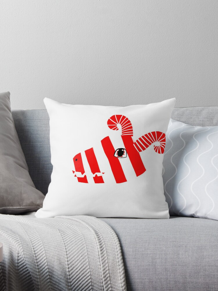 candy cane dragon throw pillow by dinoclaw5725 redbubble