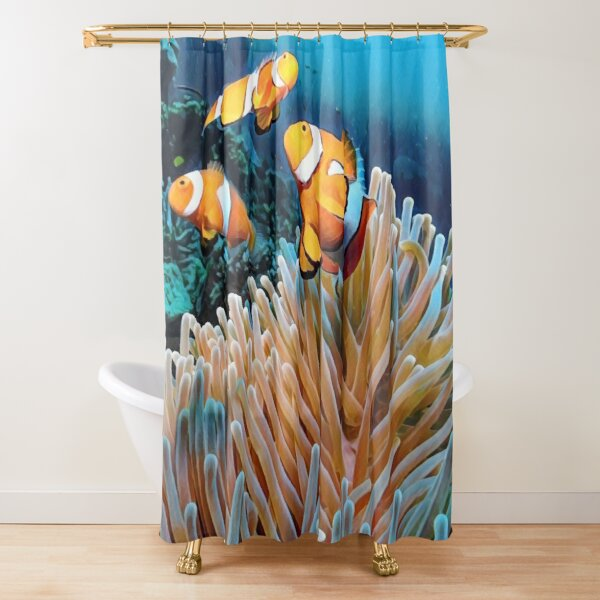barrier reef shower curtains redbubble