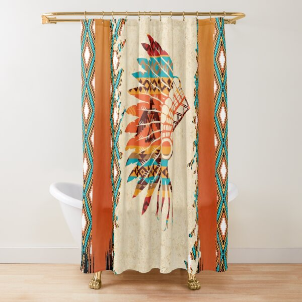 tribal pattern shower curtains redbubble