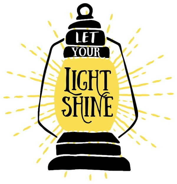 """""""Let your light shine"""" Stickers by SouthPrints 