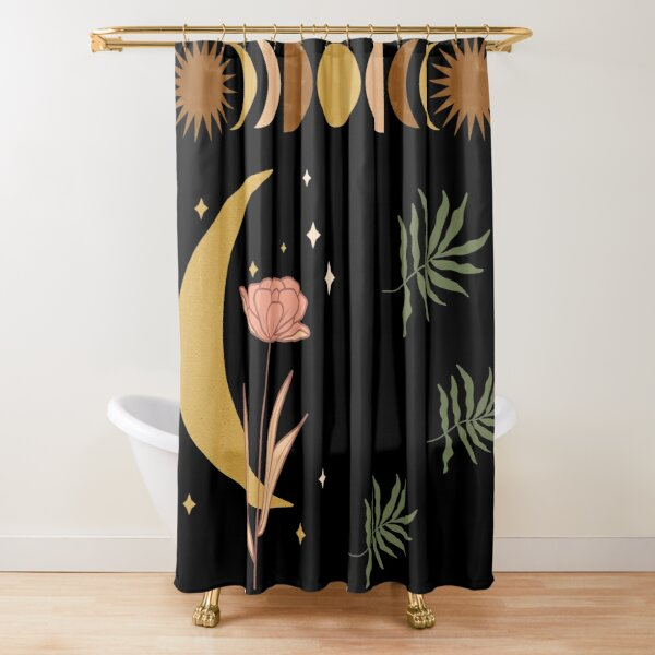 moon phases shower curtains redbubble