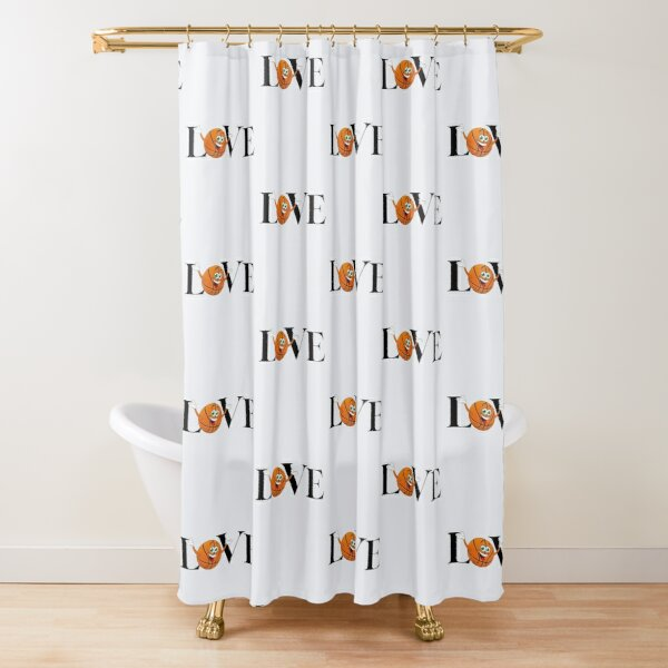 i love basketball shower curtains redbubble