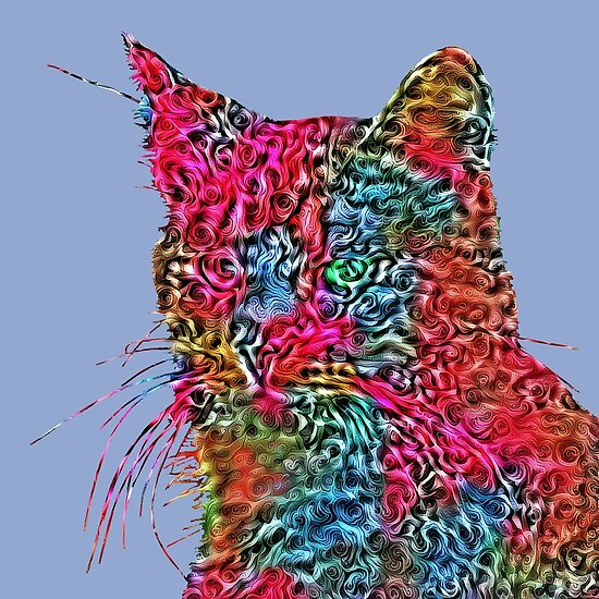 Artificial neural style Rose wild cat