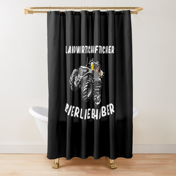 german tractor shower curtains redbubble