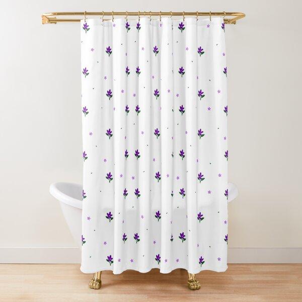 simple purple flower shower curtains redbubble