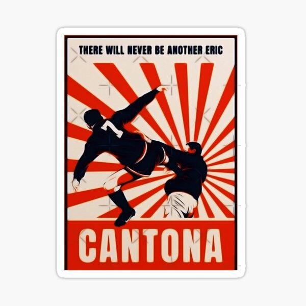 Eric cantona's kick, 25 years on: Cantona Kick Stickers Redbubble