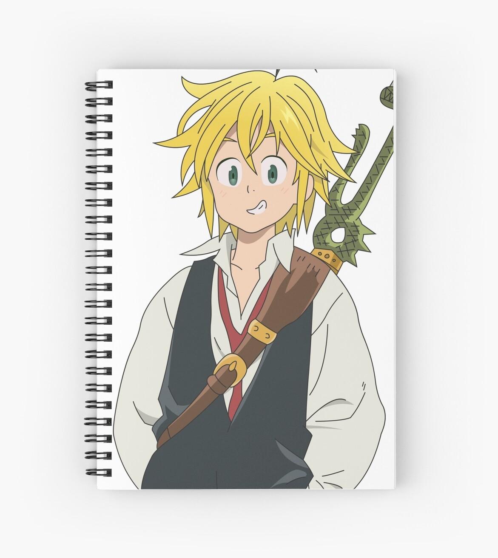 Meliodas Anime Seven Deadly Sins Spiral Notebook By