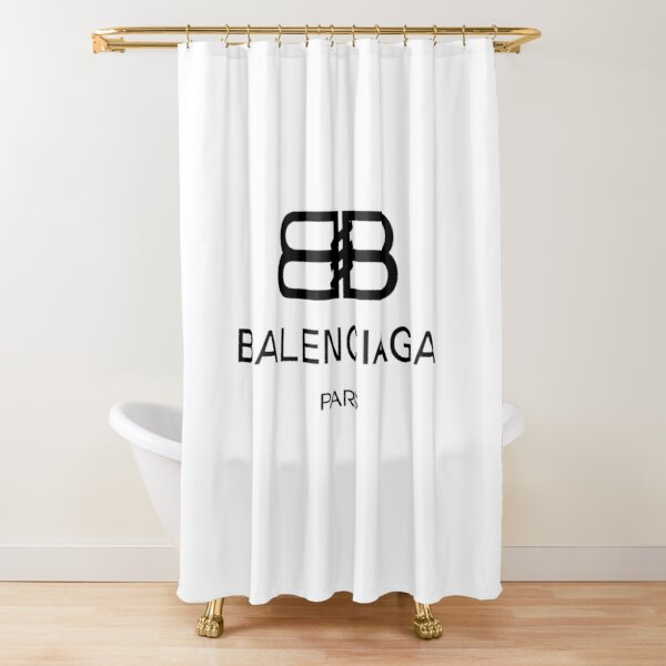 balenciaga wood shower curtains redbubble