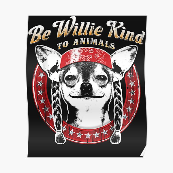 poster willie nelson redbubble