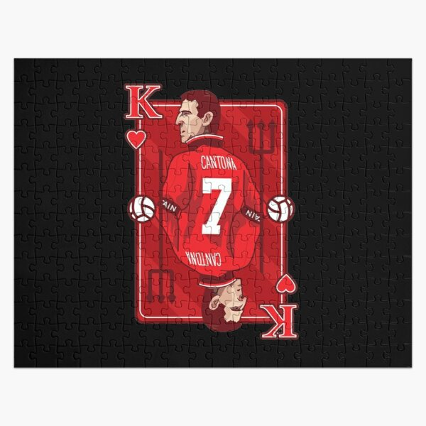 'the king', as he was known cantona, without a moment's hesitation he threw a roundhouse kick against the fan plus a couple of punches. Cantona Jigsaw Puzzles Redbubble