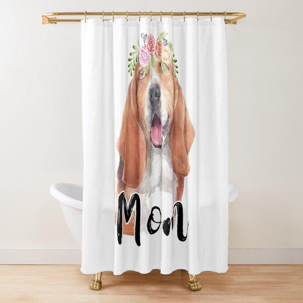 basset hound shower curtains redbubble