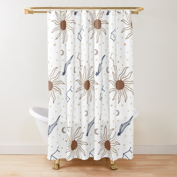 moon shower curtains redbubble