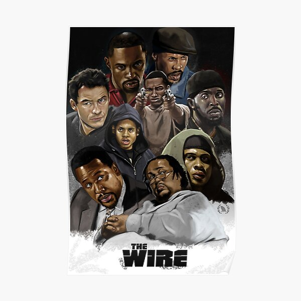 poster the wire redbubble