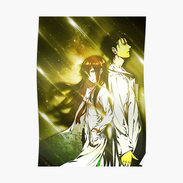 poster steins gate redbubble