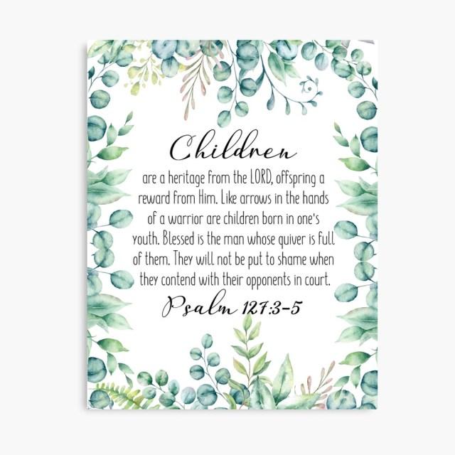 Psalm 27: 27-27, Wandkunst der Schrift, druckbare Bibel, Bibelpsalm