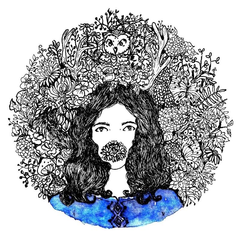 doddle art, daisy, Flora and Fauna
