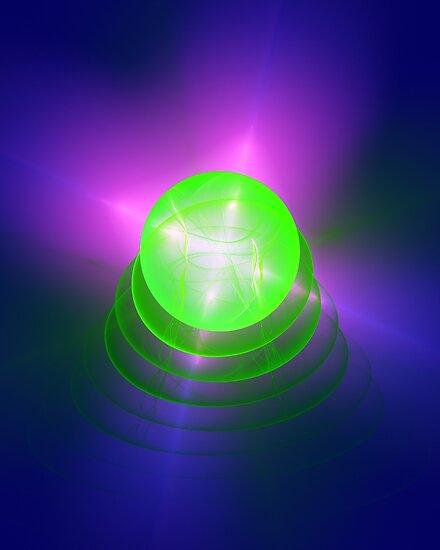 Green light planet #Fractal Art