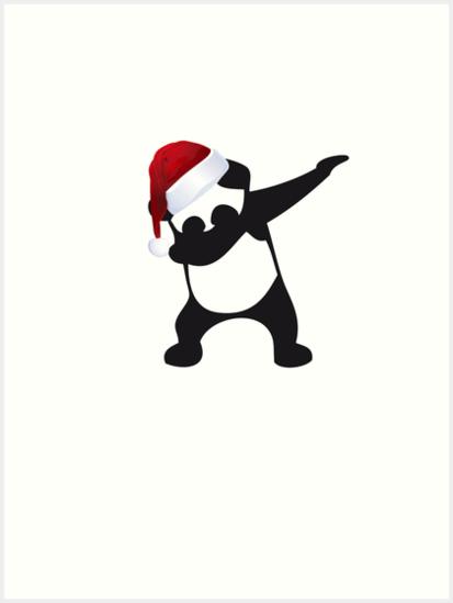 DAB PANDA Dab On A Christmas Dabber Dance Football Touch