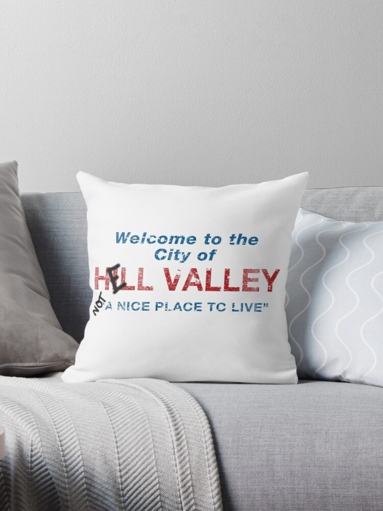 welcome to hell valley throw pillow by gingerbredmanny redbubble