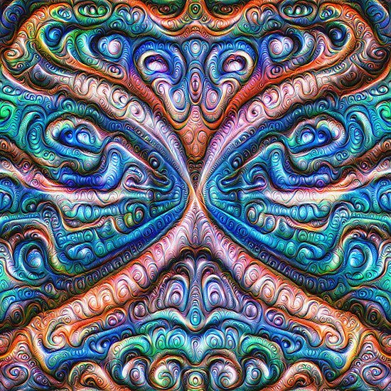 Frozen astral liquid #DeepDream #Art