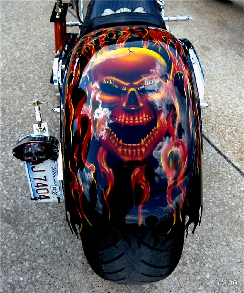 Job Harley Skull Paint Custom