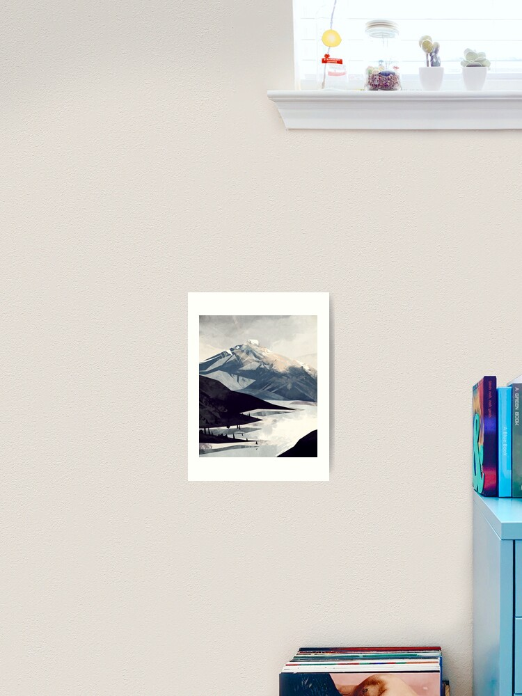 impression artistique montagne apaisante par micaeladawn redbubble