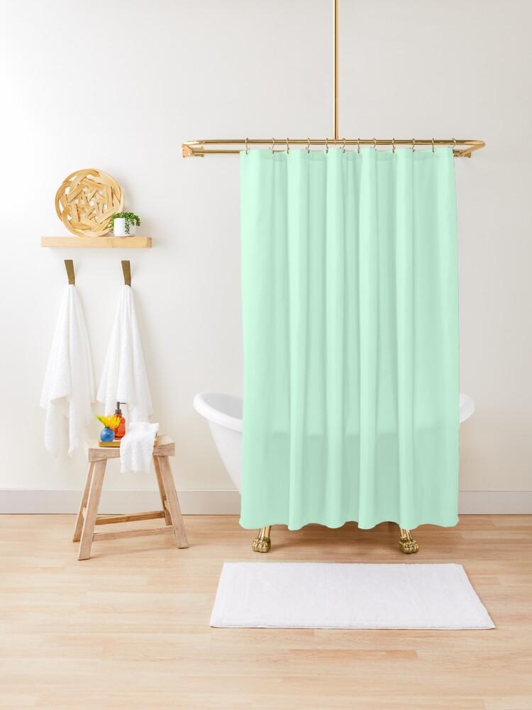 summer mint green solid color duschvorhang von podartist redbubble