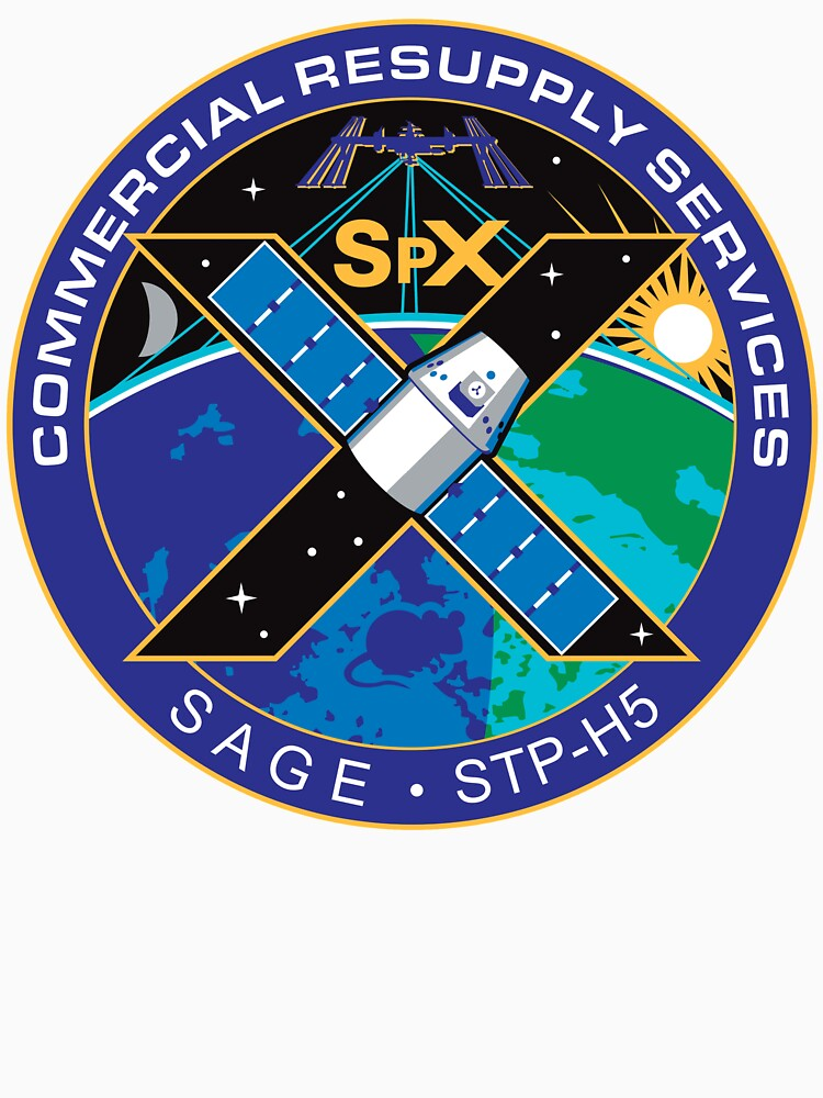 """""""SpaceX SPX10, CRS-10 Patch Logo"""" T-shirt by the-elements ..."""