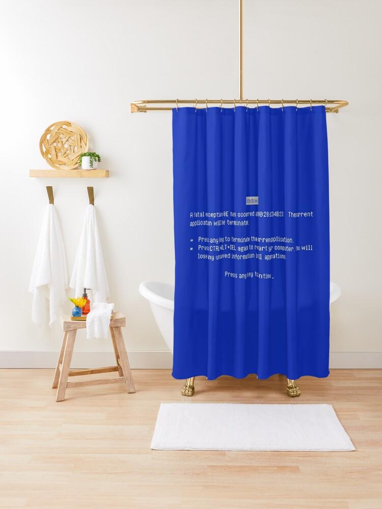 blue screen of death bsod shower curtain by kentliau redbubble