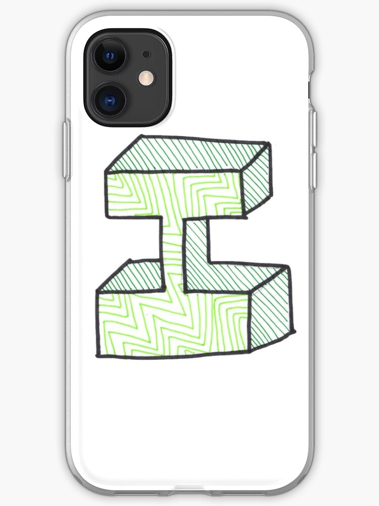 Bubble Letter I Iphone Case Cover By Abbyresnic Redbubble