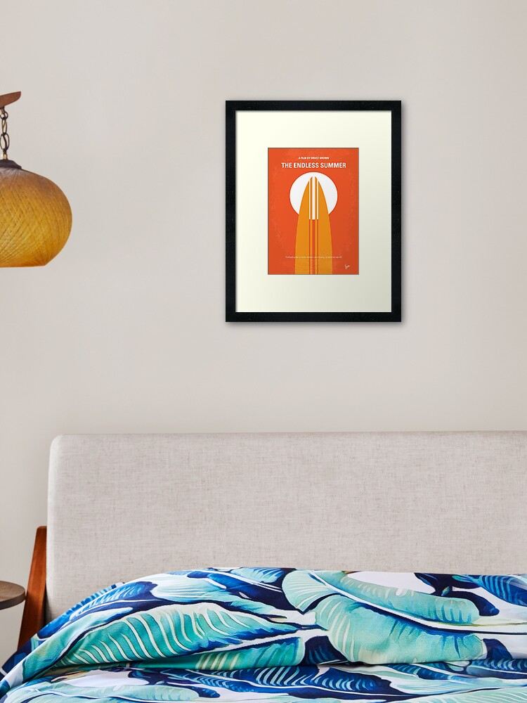 no274 the endless summer minimal movie poster framed art print by artboyvince redbubble